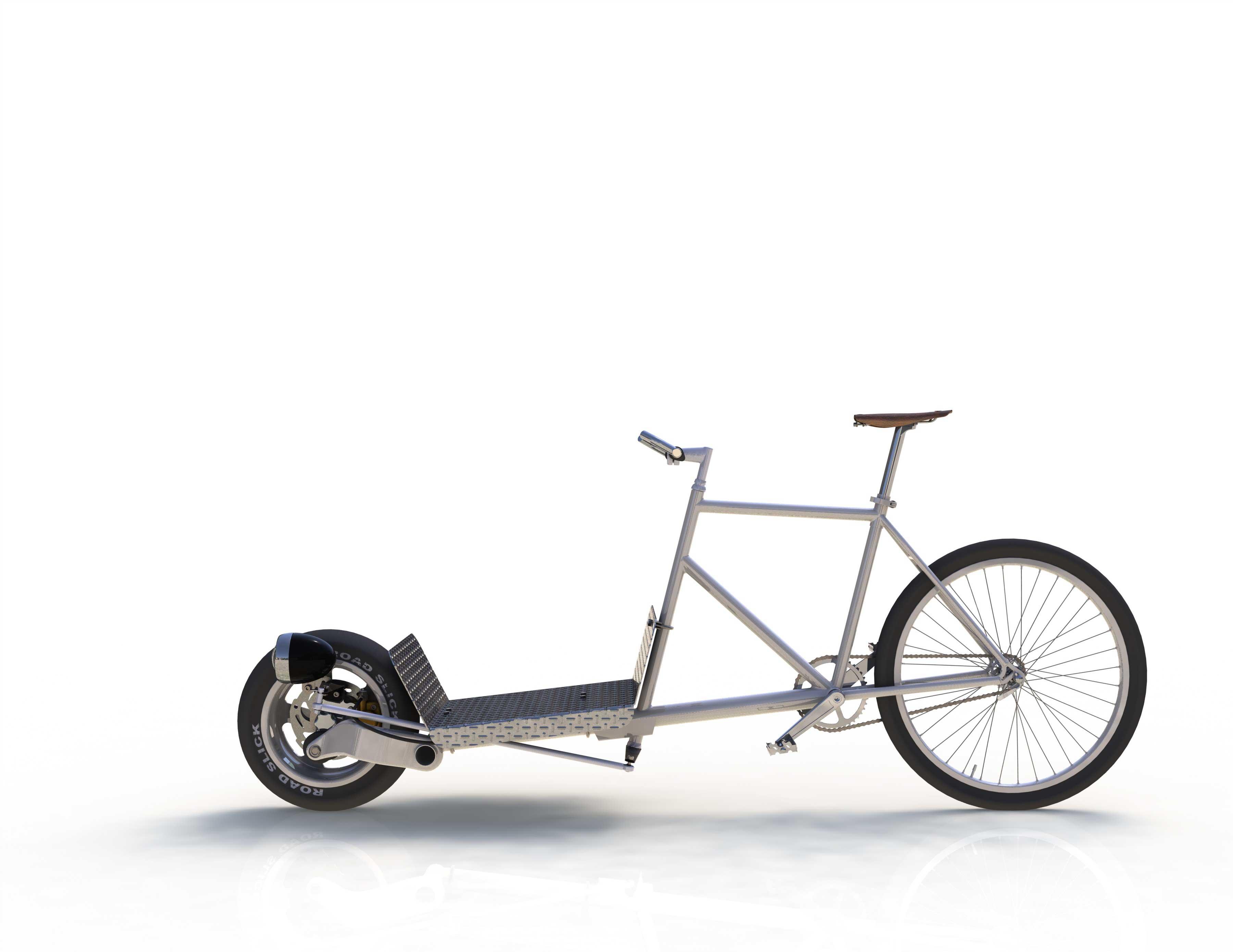 les vélos des autres > cargo auto-construit avec avant de scooter
