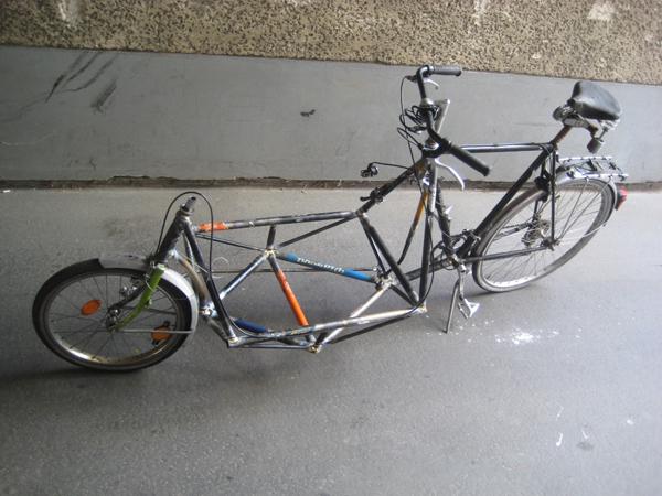 Konzept Quot Upcycled Bike Quot Lastenrad Aus Alten Rahmen